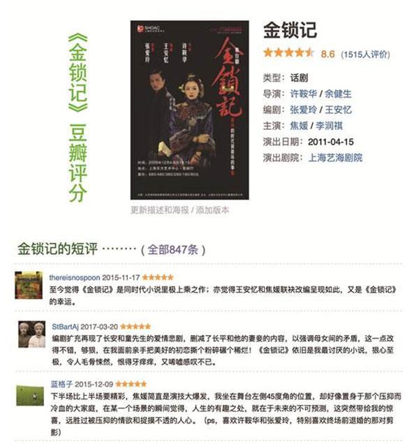 许鞍华x张爱玲x王安忆x焦媛舞台力作《金锁记》