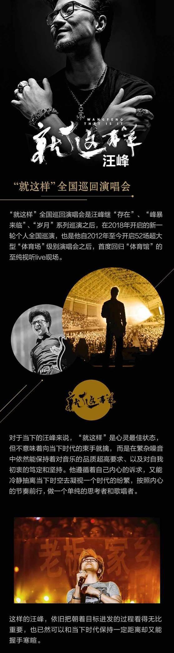 """【上海站】汪峰2018——2019""""就这样""""全国巡回演唱会"""