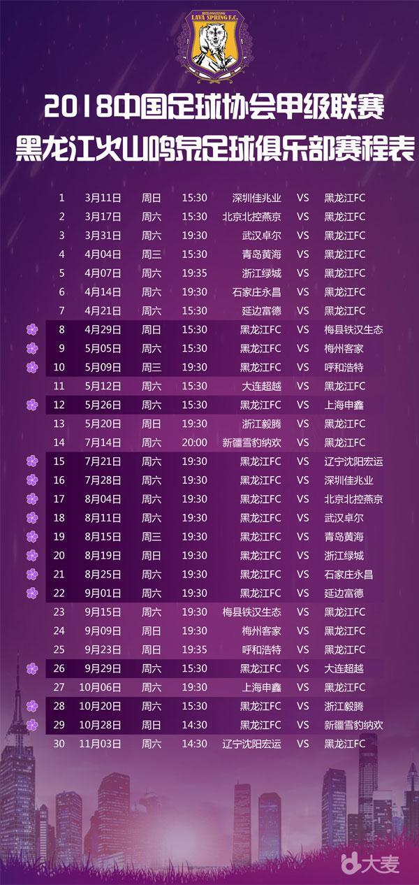 2018 58同城中甲联赛黑龙江FC 主场球票