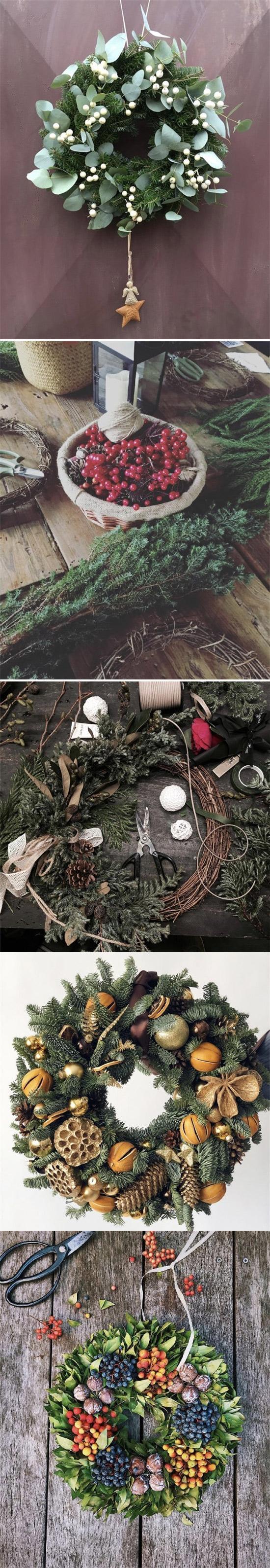 这个圣诞你家墙上还缺少一个好看的花环
